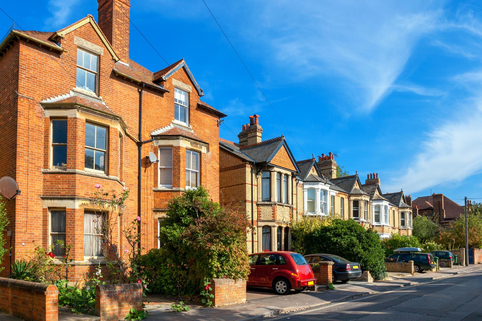 Town houses. Oxford, England